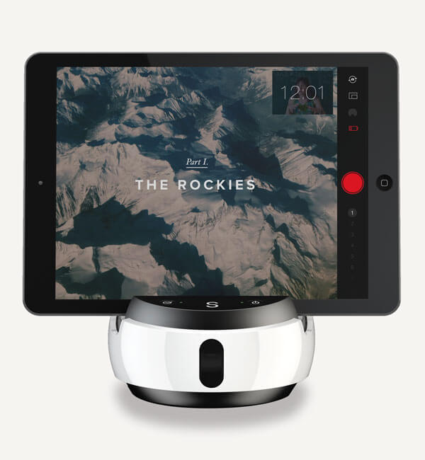 Swivl Robot with iPad mounted in it